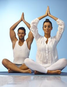 Man-and-woman-yoga-pose